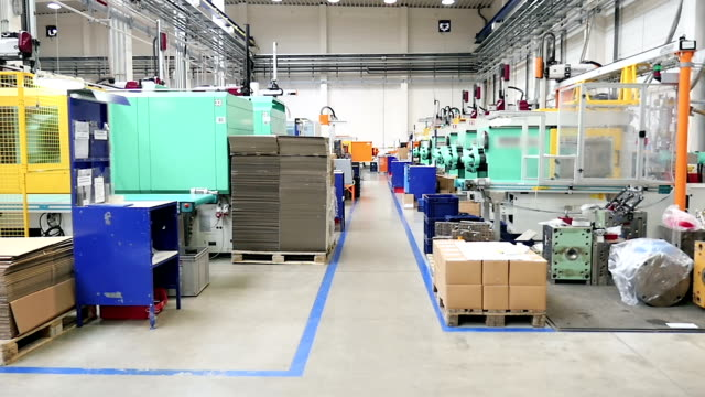intensive production line - injection molding - production line stock videos & royalty-free footage