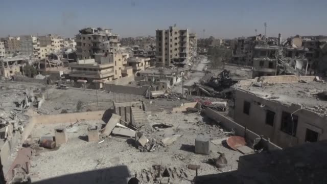 intensive us led coalition bombardment on the syrian city of raqa killed more than 1600 civilians over four months in 2017 according to a new report... - amnesty international stock videos & royalty-free footage