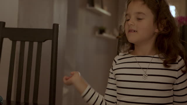 interactive learning is a lot more fun - little girl webcam stock videos & royalty-free footage