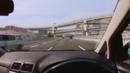 Interchange of expressways crossing overpass