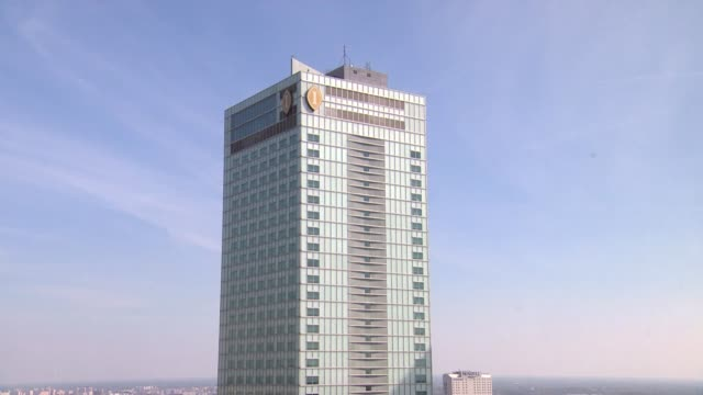 intercontinental hotel in warsaw - intercontinental hotels group stock videos & royalty-free footage