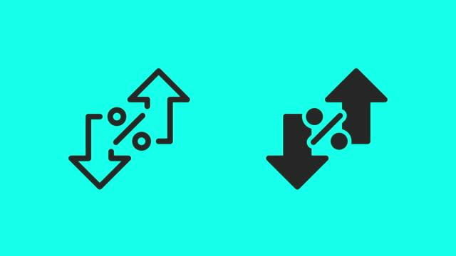 interessenwachstumssymbole - vector animate - zielgruppe stock-videos und b-roll-filmmaterial
