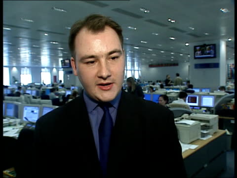 bank of england int eddie george posing with monetary committee deutsche bank ciaran barr interview sot the banks are trying to get people to spend... - deutsche bank stock videos & royalty-free footage