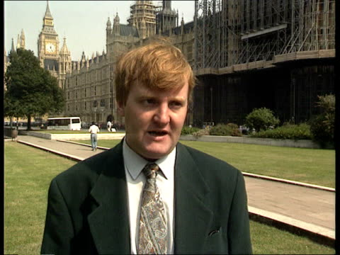 interest rates westminster cms charles kennedy mp along cms charles kennedy mp intvwd sof this has got a lot to do with keeping their options open... - charles kennedy stock videos & royalty-free footage