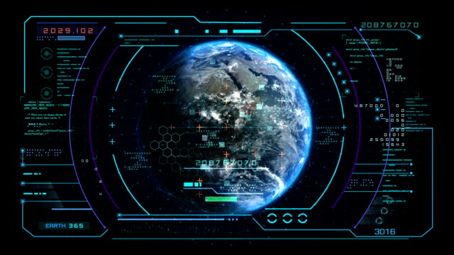 interface display scanning of the planet earth - digital display stock videos & royalty-free footage