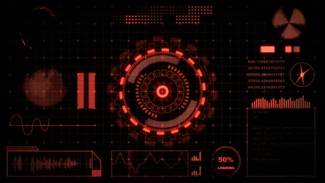 interface head up display motion background - instrument of measurement stock videos & royalty-free footage