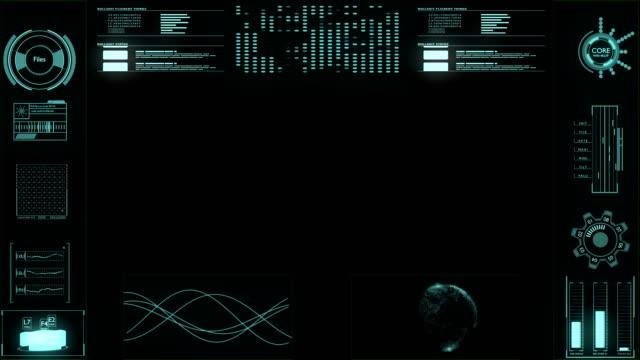 vídeos de stock, filmes e b-roll de interface do painel de controle de usuário de tela futurista de hud - moldura de quadro composição