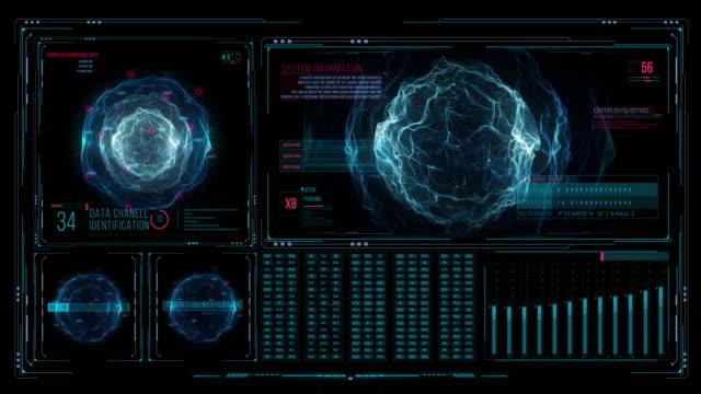 vídeos y material grabado en eventos de stock de interface motion graphics virus destruido - cristal estructura física