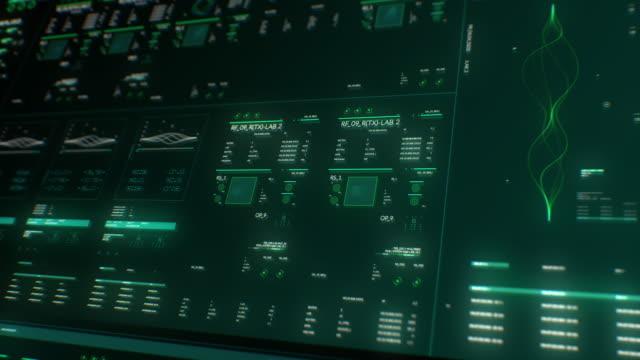 stockvideo's en b-roll-footage met interface motion graphics virus - kunstmatig