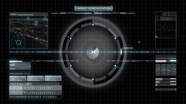 hud interface - military target stock videos & royalty-free footage