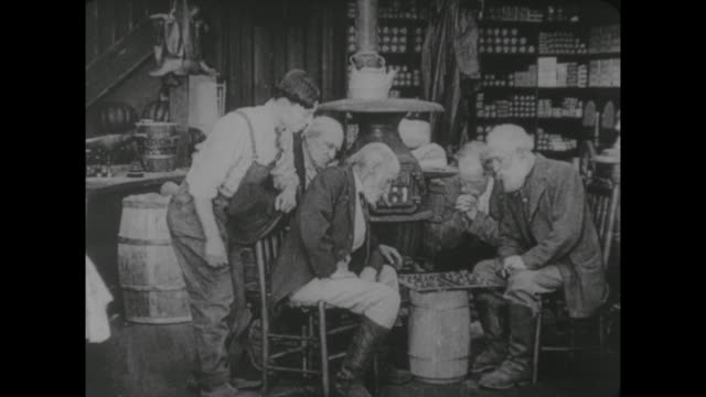 1917 interfering man (buster keaton) interrupts chess game of now angry old men - chess stock videos & royalty-free footage