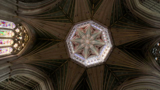 interior and exterior views of ely cathedral, uk - ornate stock videos & royalty-free footage