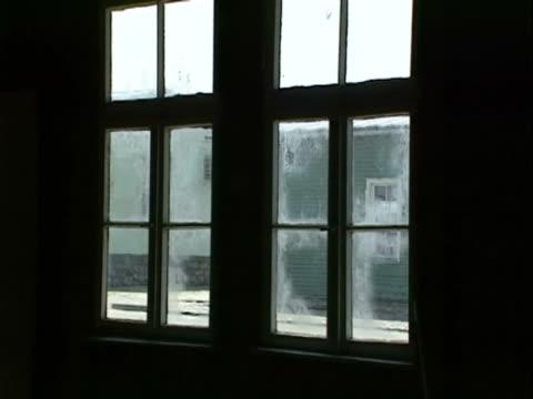/ interior barracks windows - prison window stock videos & royalty-free footage