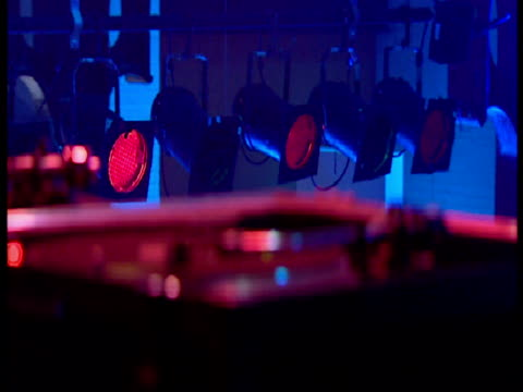 interior close up shots of dj playing records. interior close up shots of needle on record. interior shots of clubbers dancing. all music requires... - nightclub stock videos & royalty-free footage