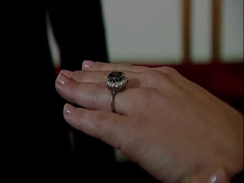 interior close up shots of kate middleton showing off her engagement ring prince william kate middleton engagement on november 16 2010 in london... - 2010 video stock e b–roll