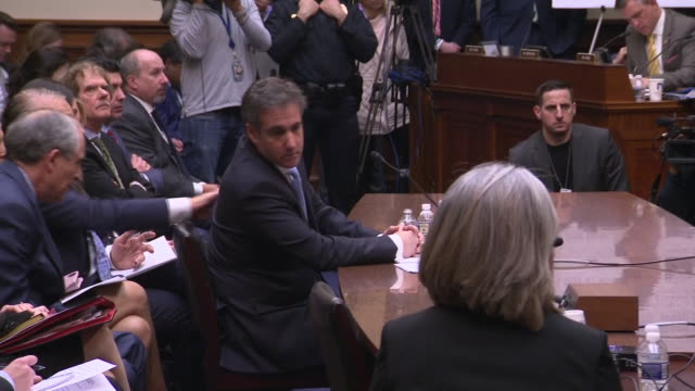 interior cutaway shots of donald trump's former lawyer michael cohen in congress being crossexamined on 27 february 2019 in washington dc united... - senate stock videos & royalty-free footage