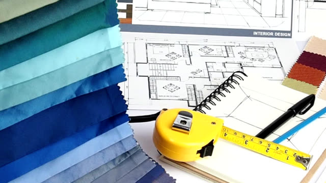 interior decoration and renovation concept - colour sample stock videos & royalty-free footage