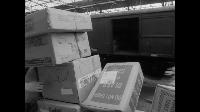 interior freight rail station - british rail stock videos & royalty-free footage