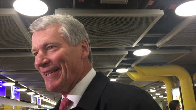 Interior grab David Gill UEFA Executive Committee is asked whether he will be supporting Michel Platini at UEFA committee meeting on October 15 2015...