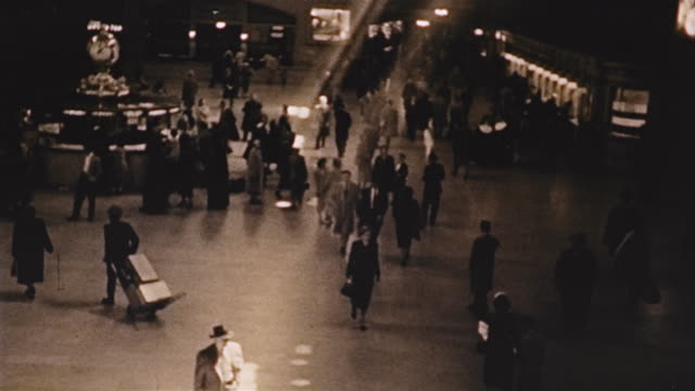 interior grand central station with light streaming in - 1953 stock videos and b-roll footage