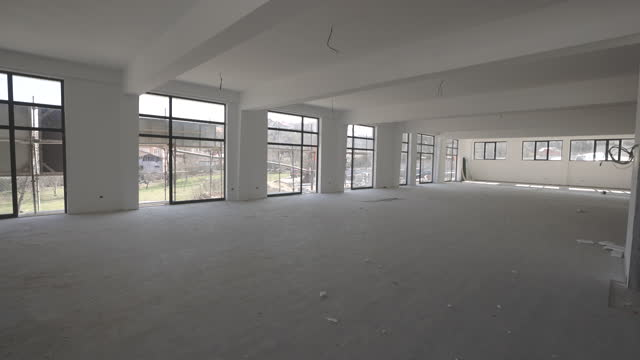 interior in construction and wall decoration at building site - new stock videos & royalty-free footage