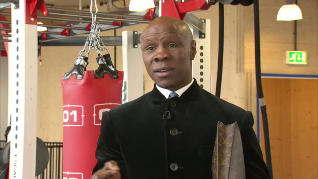 interior interview chris eubank, former boxer about the death of muhammad ali and his legacy on june 04, 2016 in london, united kingdom. boxing... - chris eubank sr stock videos & royalty-free footage