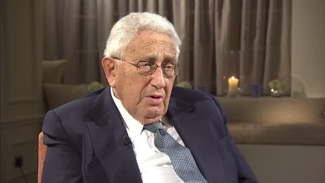 Interior interview Henry Kissinger Former US Secretary of State on Israel Palestine David Cameron's handling of Libya Barack Obama's speech on the...