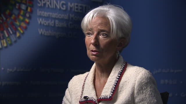 Interior interview IMF head Christine Legard speaks on the Eurozone survival of the Euro Christine Legard Speaks on the Euro on April 19 2012 in...