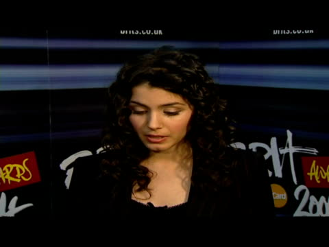 interior interview Katie Melua backstage at the Brit Awards