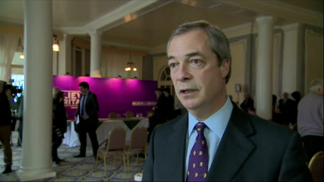interior interview nigel farage ukip leader says behaviour of expelled ukip mep janice atkinson was the last thing he needed in the run up to the... - mep stock-videos und b-roll-filmmaterial