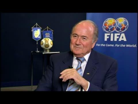 interior interview sepp blatter, president of fifa - fifa stock videos & royalty-free footage