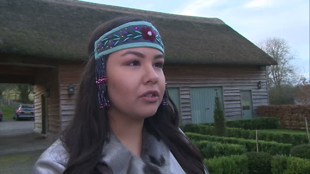 interior interview with a member of inuit community about their visit to wales form canada & meeting prince charles, prince of wales on december 16,... - inuit bildbanksvideor och videomaterial från bakom kulisserna