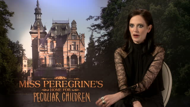 Interior interview with actor Eva Green speaking about playing her character in Tim Burton's new film Miss Peregrine's Home for Peculiar Children on...