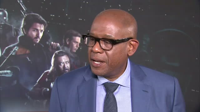 Interior interview with actor Forest Whitaker about his experiences making Rogue One A Star Wars story the outfit his character wears and the...