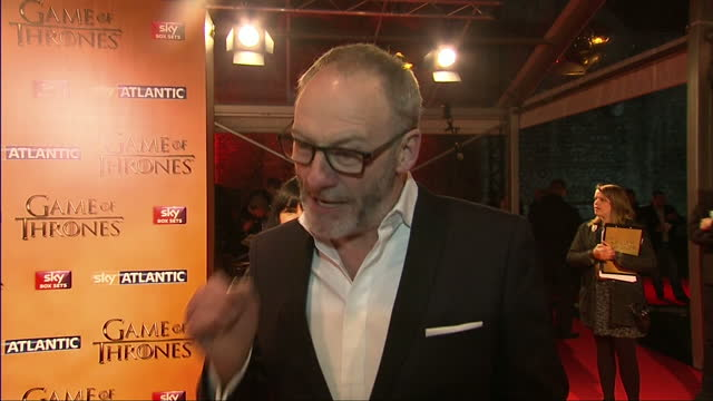 interior interview with actor liam cunningham speaking about some of the incredible plot twists in the game of thrones series and how fans of the... - liam cunningham stock videos & royalty-free footage