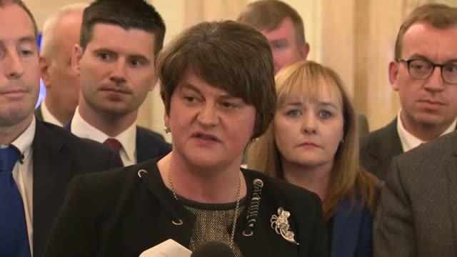 vidéos et rushes de interior interview with arlene foster regarding northern ireland abortion legislation on the 21 october 2019 in belfast. - irlande du nord