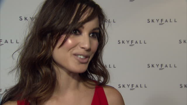 interior interview with berenice marlohe newly announced bond girl speaking about role in the film and being honoured to be part of 50th anniversary... - bond girl fictional character stock videos & royalty-free footage