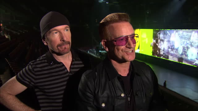 interior interview with bono and the edge of u2 about the gay marriage vote in ireland on may 15 2015 in vancouver british columbia - david 'the edge' howell evans stock videos and b-roll footage