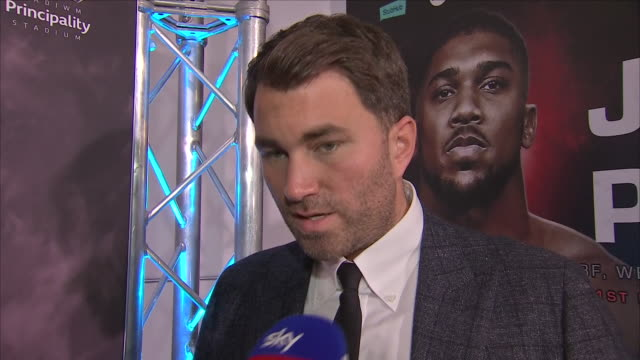 Interior Interview with British Boxing Promoter Eddie Hearn speaking about the pre fight buildup between Anthony Joshua and Joseph Parker on 27th...