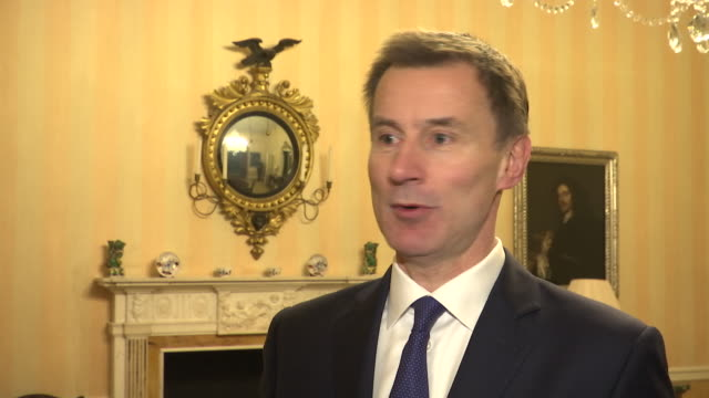 Interior interview with British Foreign Secretary Jeremy Hunt MP on the risk if Parliament reject Brexit on 11 January 2019 in London United Kingdom