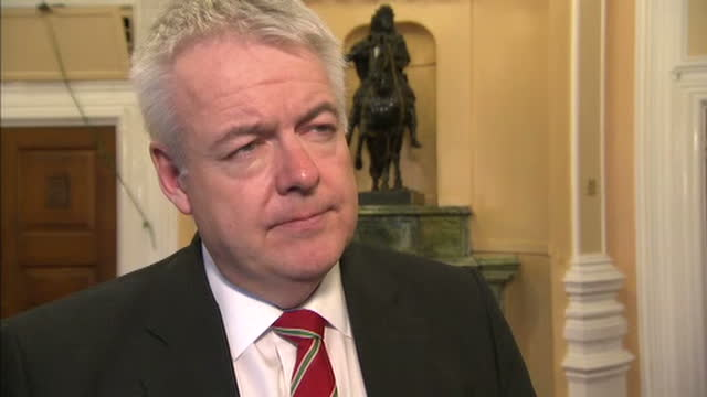 Interior interview with Carwyn Jones First Minister of Wales speaking about the outcome of the Joint Ministerial Committee meeting the ongoing...