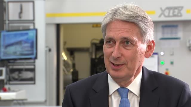 vídeos de stock, filmes e b-roll de interior interview with chancellor of exchequer phillip hammond talking the brexit deal on august 10 2018 in coventry england - produto interno bruto