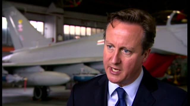 interior interview with david cameron british prime minister on his commitment to spend 2% of gdp on defence> on july 13 2015 in lincoln england - イギリス国防省点の映像素材/bロール