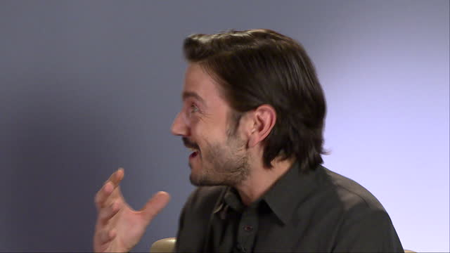 Interior interview with Diego Luna Rogue One actor at Leicester Square on December 13 2016 in London England