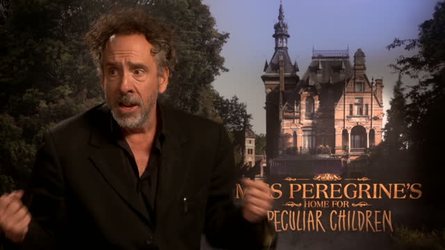 Interior interview with Director Tim Burton speaking about his new film Miss Peregrine's Home for Peculiar Children on September 21 2016 in London...