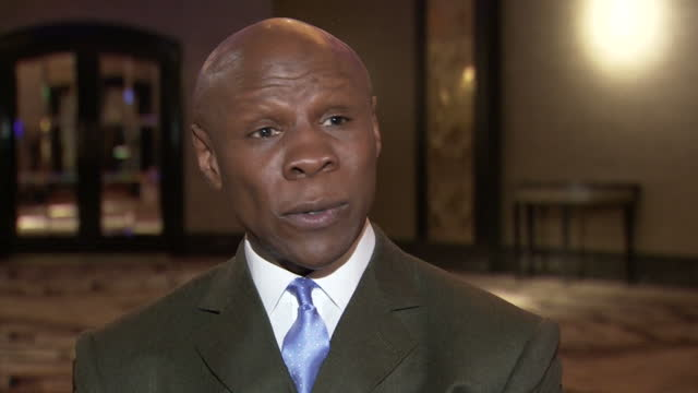 interior interview with former boxer chris eubank speaking about his mentality towards boxing and how he has trained his son, chris eubank jr. to... - chris eubank sr stock videos & royalty-free footage