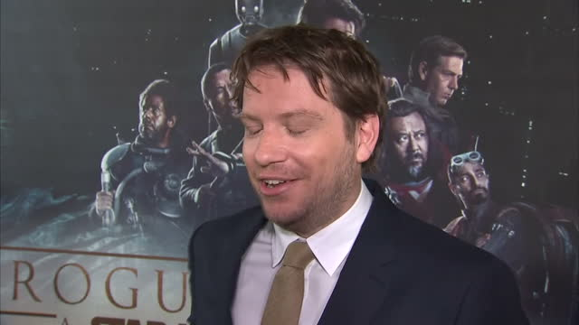 Interior interview with Gareth Edwards director about having to block out rest of the world when making the film being a massive Star Wars fan being...