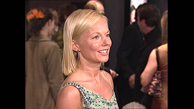 interior interview with geri halliwell at the premiere of bridget jones's diary on 4 april 2001 in london, united kingdom - red carpet event stock videos & royalty-free footage