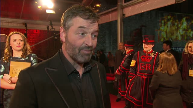 stockvideo's en b-roll-footage met interior interview with ian beattie speaking with great enthusiasm about the premiere and how he only reads his parts in the script so that he... - ensemble lid