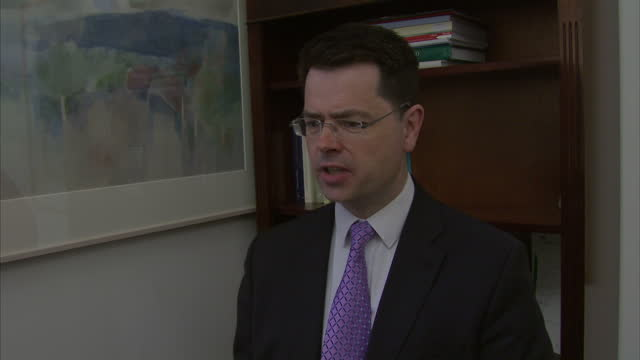 Interior interview with James Brokenshire MP former Secretary of State for Northern Ireland speaking about his reasons for resigning as Northern...